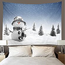 Tapestry Beach Throw snowman Wall Hanging Room