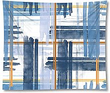 Tapestry by BD-Boombdl Blue Geometric Decorative