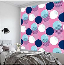 Tapestry by BD-Boombdl Neon Retro Geometric