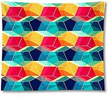 Tapestry by FDCYFFS Abstract Colorful Geometric