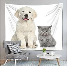 Tapestry by FDCYFFS Animal Cat Dog Decorative Wall