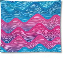 Tapestry by FDCYFFS Blue Pink Corrugated