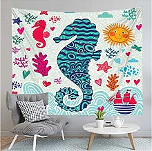 Tapestry by FDCYFFS Color Animal Hippocampus