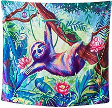 Tapestry by FDCYFFS Colorful Animal Tapestry Sloth