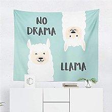 Tapestry by FDCYFFS Cute Animal Alpaca Decorative