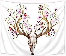 Tapestry by FDCYFFS Deer Head Skull Tapestry