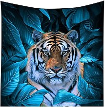 Tapestry by FDCYFFS Forest Animal Tiger Decorative