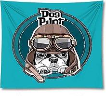 Tapestry by FDCYFFS Funny Animal Pug Decorative