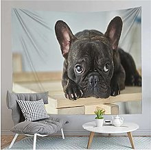 Tapestry by FDCYFFS Funny Cute Bulldog Tapestry