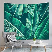 Tapestry by FDCYFFS Green Plant Leaves Banana Leaf