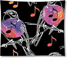 Tapestry by FDCYFFS Musical Symbols Animal Bird