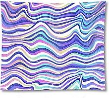 Tapestry by FDCYFFS Purple Corrugated Decorative