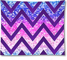Tapestry by FDCYFFS Purple Geometric Ripple
