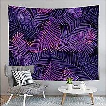 Tapestry by FDCYFFS Purple Leaf Palm Leaf
