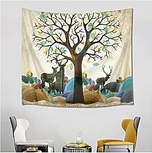 Tapestry by FDCYFFS Tree Of Life Deer Forest Wall