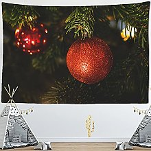Tapestry Christmas Fireplace And Snow Wall Hanging
