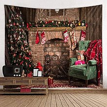 Tapestry Christmas Tree Wall Hanging Christmas