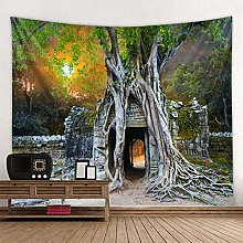 Tapestry Forest Trees Wall Hanging Tapestry Beach