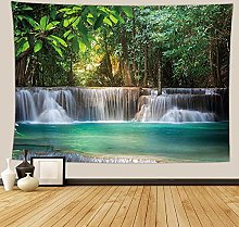 Tapestry Forest Waterfall Tapestry Wall Blanket