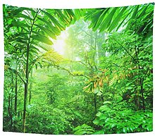 Tapestry Fresh Green Rainforest Summer Time