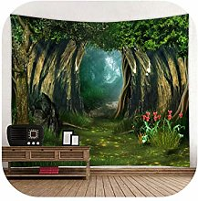 Tapestry Hangers Walls| Fantasy Forest Print Large