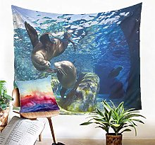 Tapestry Sea Lion Tapestry Wall Hanging Sand Mat