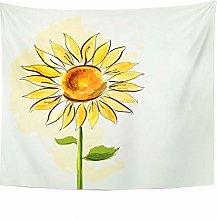 Tapestry Summer Sunflower Tapestry For Bedroom