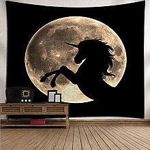 Tapestry Wall Hanging Dark Unicorn Moon,