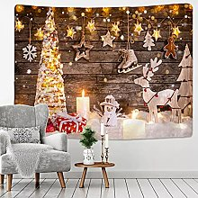 Tapestry Wall Hanging Decor Christmas Fireplace