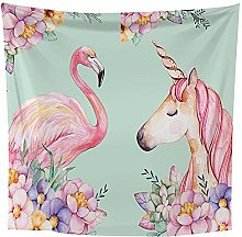 Tapestry Wall Hanging Tapestry Flamingo And Beach