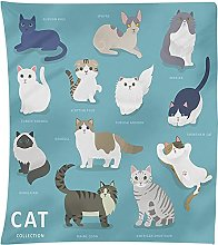 Tapestry Wall Hangings Cartoon Animal Print
