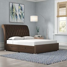 Taro Upholstered Storage Bed Frame Wrought Studio