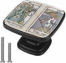 Tarot Card 3 4pcs Glass Cupboard Wardrobe Cabinet