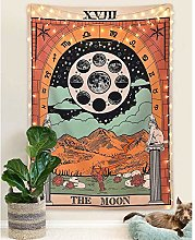 Tarot Wall Tapestry The Moon The Star and Sun