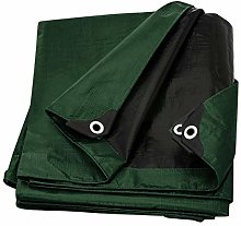Tarp Cover 10X12 Green/Black 2-Pack Heavy Duty