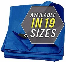 Tarp Cover Blue Waterproof 12x25 2-Pack Great for