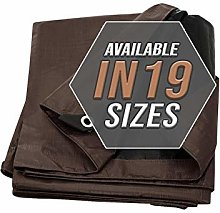 Tarp Cover Brown/Black 2 -Pack Heavy Duty