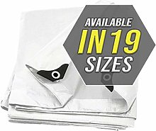 Tarp Cover White Heavy Duty 12X16 Thick Material,