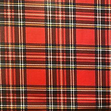 Tartan Oilcloth Tablecloth   Suitable For Up To A