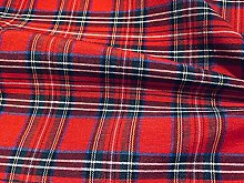 TARTAN PLAID CHECK Designer Fabric Curtain