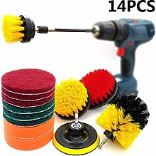 TARTIERY 14 Piece Drill Brush Attachment Set,