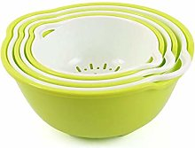 TARTIERY 6pcs Colander With Bowl Plastic,Strainer