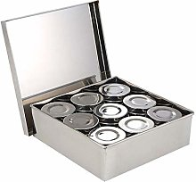 TARTIERY Spice Tins Set, Spice Tin Box Spices Box