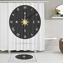 TARTINY 2 Piece Shower Curtain Set with Non Slip