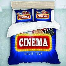 TARTINY Blue Movie Cinema Popcorn Drink Clapping