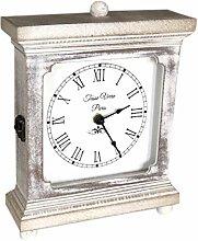 Tasse Verre Rustic Shelf Clock (Quiet) For Bedroom