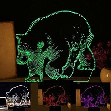 Tatapai 3D Bear Polar Bear Lamp USB Power 7 Colors