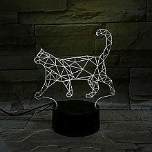 Tatapai 3D Illusion Cat Night Lamp 7 Color