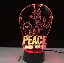 Tatapai 3D Illusion Lamp Led Night Light Peace