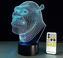 Tatapai 3D Illusion Lamp LED Night Light Shrek